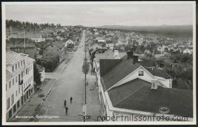 Malmberg. Foto över Österlånggatan, tidigt 1950-tal.