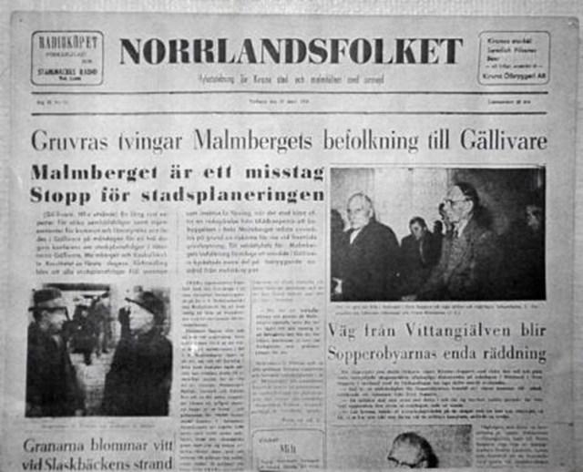 Förstasida ur Norrlandsfolket, mars 1956.