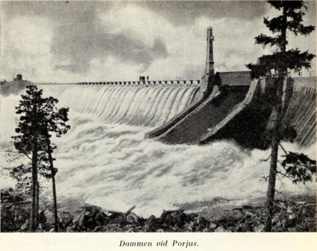 Porjus damm, Foto: Eklunds Elektriska Museum