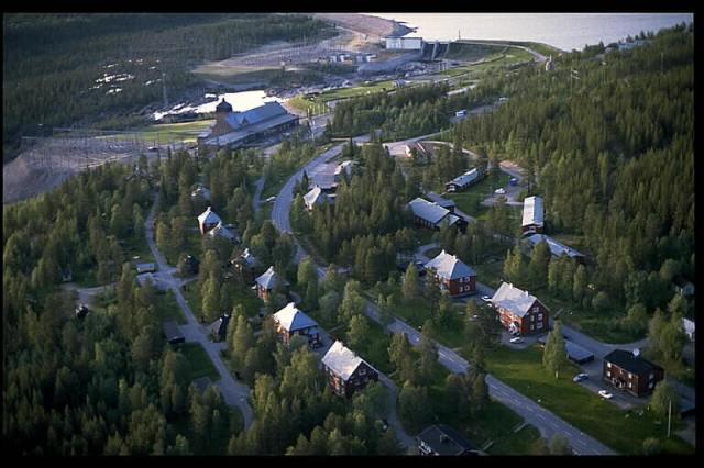 Porjus samhälle o kraftverket. Foto: RAÄ.