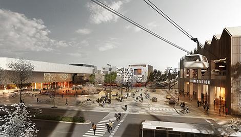 White Kiruna Plaza, vinnande förslag till nya Kiruna.