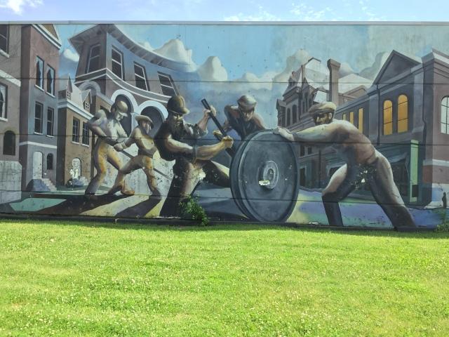 Väggmålning i Pullman Town, foto HF.