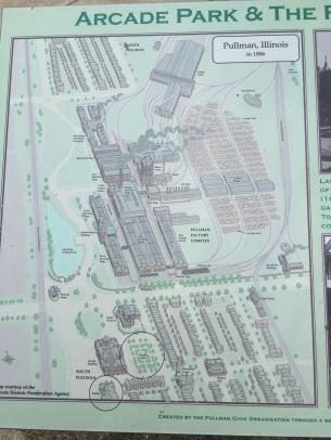 Översiktsplan över Pullman Town, foto HF.