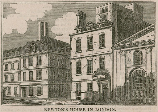 Sir Isaac Newton's House, St Martin's Street, Leicester Square London