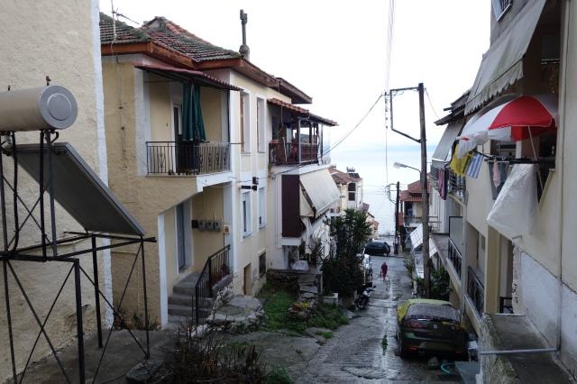 Pentakossia med sina enkla terrasserade kvarter, trädgårdsstadsinspirerade, enkla bostäder för flyktingar från 1928.